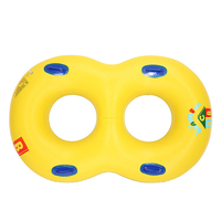 Inflatable Mother Baby Couples Double Swimming Ring Swim Pool Float Toy