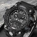 Роскошные Мужские Цифровые Часы Relogio Masculino СВЕТОДИОДНЫЙ Цифровой Водонепроницаемый Спортивные Часы Мужчины Марка Повседневная Военные Наручные Часы xfcs