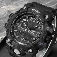 Lujo Hombre Reloj Digital Relogio masculino reloj Militar LED Digital Impermeable Reloj Deportivo Hombres de la Marca Casual Relojes de Pulsera xfcs