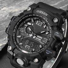 De lujo Para Hombre Reloj Digital Relogio masculino Reloj Militar LED Digital Impermeable Reloj Deportivo Hombres de la Marca Casual Relojes de Pulsera xfcs