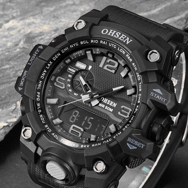 Reloj Digital de lujo para hombre reloj deportivo impermeable Digital LED  Masculino reloj de pulsera militar e2e1fa722cb4