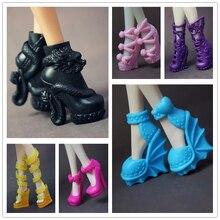 Оригинальная кукла обувь/разные стили Мода Современные на высоком каблуке аксессуары-сандалии для Monster High куклы игрушки Рождество