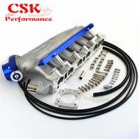 Впускной коллектор + впрыска топлива и 80 мм VQ35TPS дроссельной заслонки для NISSAN Skyline R32 R33 RB25 RB25DET GTS T