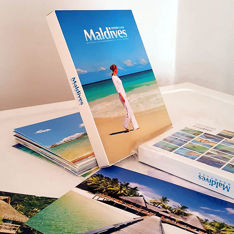 Maldives Island Seascape Beach Tourism Greeting Fresh Sheet Collection 3d Art Lenticular PhotographyCard/Fashion Gift change up intermediate teachers pack 1 audio cd 1 cd rom test maker