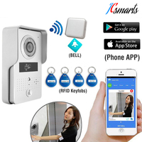 Wireless P2P Video Porteiro Interfone Telefone WIFI Video Door Phone Door Camera Doorbell With Night Vision