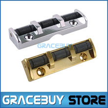 Electric Guitar Roller Nut Adjustable Silver or Gold 43MM Chrome Guitar Metal Nut Soild Body Pro Quality