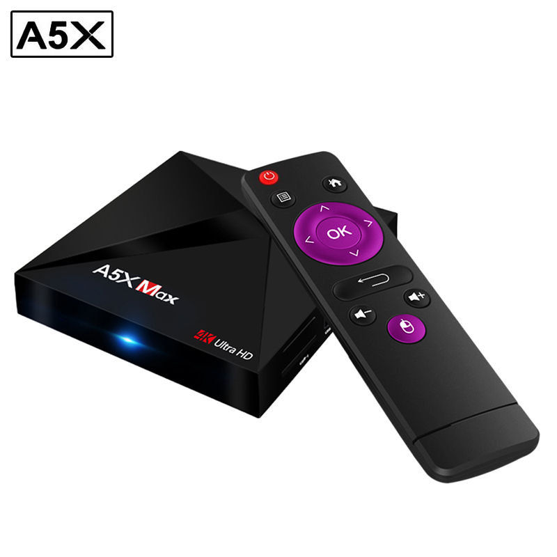 A5X Max Android 7.1 OS Ultra HD TV Box Rockchip RK3328 Quad Core WIFI Set Top Box 16GB 32G KD17.3 Pre-installed 4K Media Player m8 fully loaded xbmc amlogic s802 android tv box quad core 2g 8g mali450 4k 2 4g 5g dual wifi pre installed apk add ons