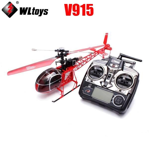 WLtoys V915 2.4G 4-CH LCD Contrôle RC modèle d'hélicoptère avec 6-Axe Gyro RTF