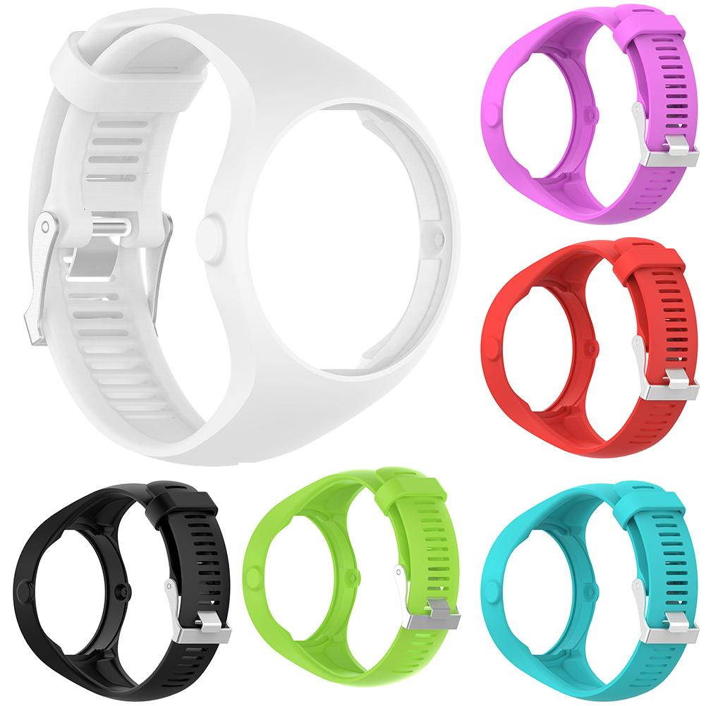 New Arrival Solid Color Soft Silicone Smart Bracelet Watch Strap Wrist Band for Polar M200
