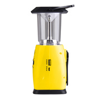 New Multi Functional 4 Way Powered Solar Hand Crank LED Camping Lantern With Radio And Emergency