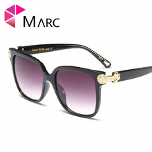 MARC WOMEN sunglasses Trendy eyewear Brand Goggle Leopard print Transparent Over Square NEW
