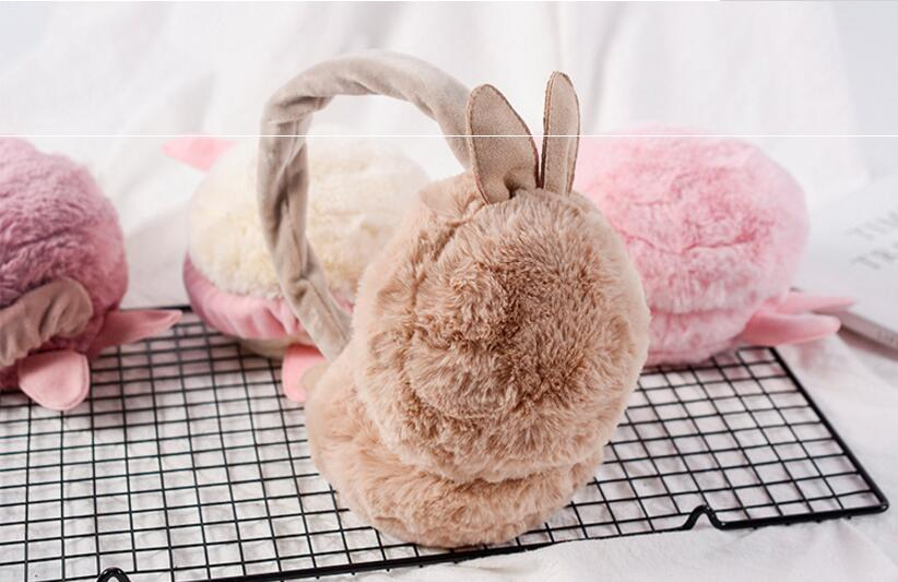 10x Girl's Cut Earmuffs Real Rex Rabbit Earmuffs Women Earflap Cute Ladie's Ear Muff Natural Fur Ear Warmer