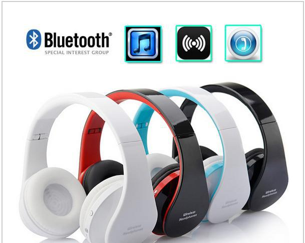 2016 New 8252 Stereo Foldable Headset Handsfree Wireless Bluetooth Headphones Earphone with Mic Micphone for iPhone Galaxy HTC ttlife new mini stereo car kit bluetooth headset wireless earphone handsfree auriculares with mic with charging dock for iphone