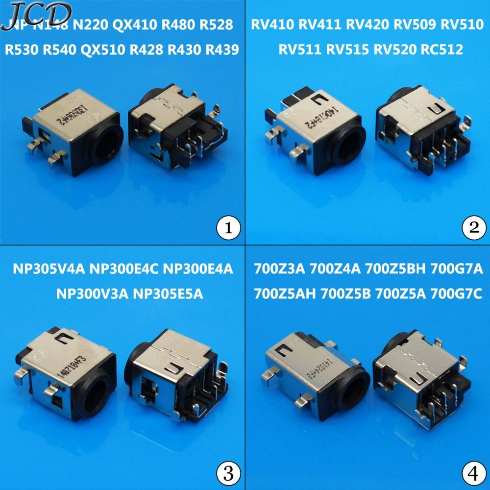 ShineBear 5-200 PCS DC Power in Jack Connector for Samsung RV508 RV530 RV510 RV408 RV510 R478 R480 R530 R580 R428 R429 R425 Cable Length: 10 PCS