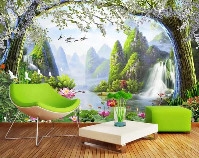Custom 3d Wall Murals Wallpaper Landscape Scenery Wallpaper 3d