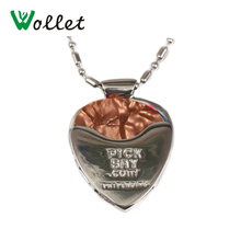 2017 New Arrivals Wollet Jewelry Heart Shape Stainless Steel Simple Beautiful Personality Jewelry Guitar Pendant Necklace simple heart husky dog shape pendant necklace for men
