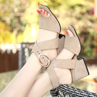 PLUS SIZE 41 42 43 Summer Shoes Woman 2018 Women S Sandals Square Heel Sandals Gladiator