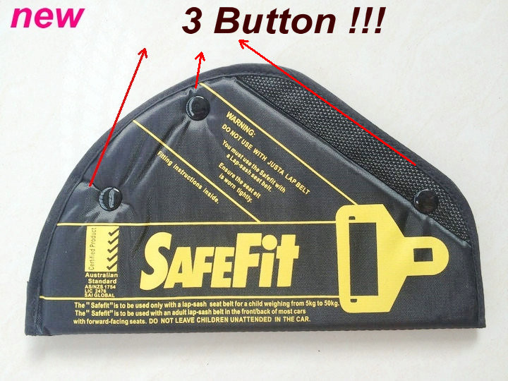 NEW ONE Safe belt Upgrade 3 buttons Seat fit children safe fit car safe seat thickening adjust device baby safety belt 2-14year