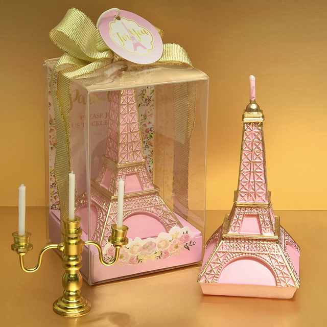Tower Candle Pink Silver Wedding Gift Child Birthday Candles Cake Decorative Festival Party Decoration
