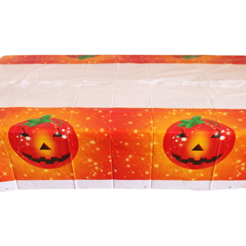 Orange Pumpkin Small Halloween Party Bundle Plates Napkins Table Cover Cups Cutlery