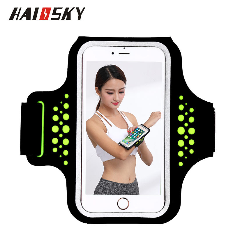 Haissky 5.5 '' Universal Impermeable Running Sport Funda para teléfono para Samsung Galaxy S8 Plus S7 S6 edge Note 5 iPhone 5 6 7 Plus Funda