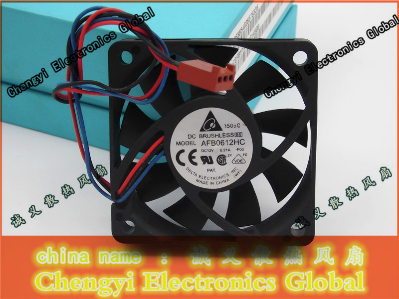 DELTA AFB0612HC 60x60x13mm 12V 0.21A DC Brushless Fan 3-Wires Case Cooling Fan