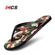 Season Clearance Trendy Match Camouflage Color Flip Flop Men's Casual Beach Slipper Wearable Anti-Skid Cow Muscle Slipper Cool