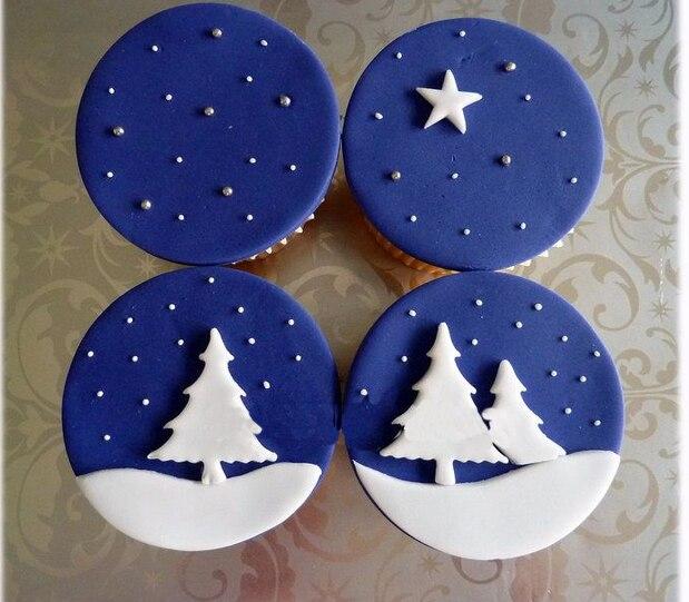 Инструмент для выпечки тортов, резак в форме рождественской елки, 3 шт./компл. инструмент для помадки, торта