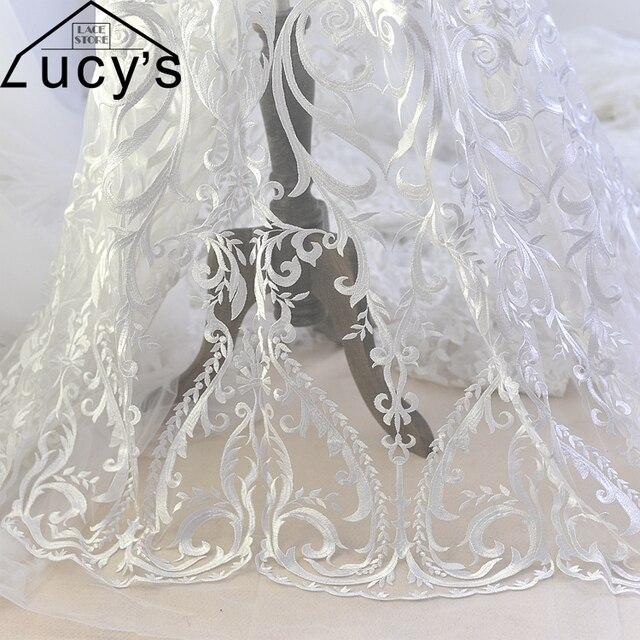 Princess Wedding Dress Lace Fabric New Design 2017 Tulle