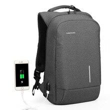 Kingsons sırt çantası erkek kadın 15.6 inç dizüstü Anti hırsızlık sırt çantası USB şarj Mini sırt çantası genç okul iş çantası mochila