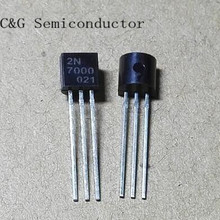 100 шт 2N7000 n-канальный MOSFET TO-92 новые продукты и ROHS