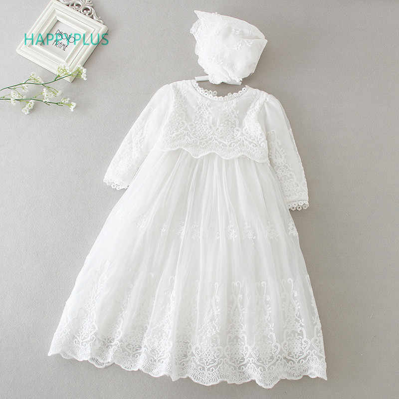 2d8216d72f10 HAPPYPLUS Baby Dress Long Sleeve Sleeveless Kids Second First Birthday Girl  Party Gown for Bridesmaid