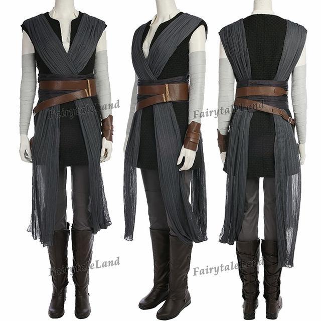 star wars The Last Jedi Rey cosplay Costume Carnival Halloween costume Star wars 8 Rey costume cosplay suit custom made 1