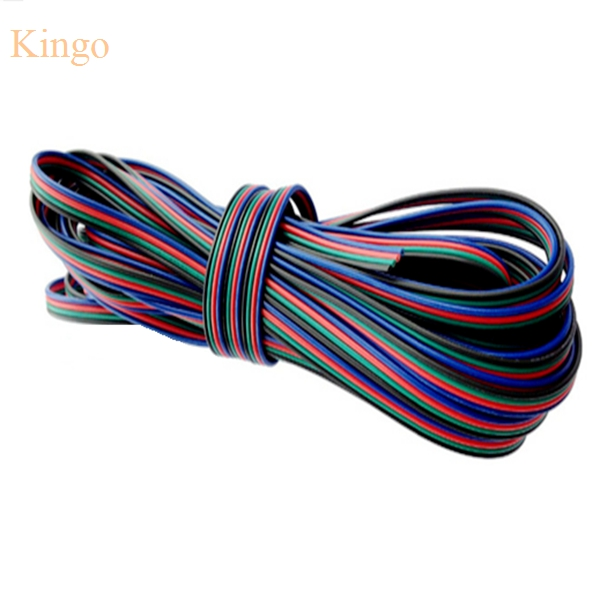 New Rgb 4 Pin Extension Wire Connector Cable Cord For 3528 5050 Rgb