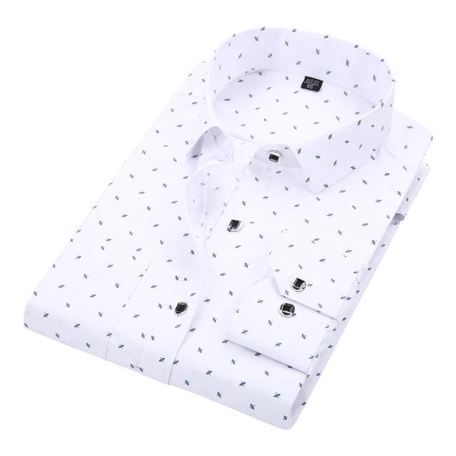 Formal Men Shirt Long Sleeved Solid Floral Printing | online brands