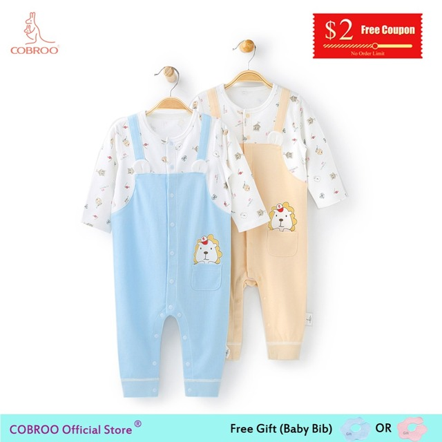 3d00ab1bc515 COBROO Newborn Baby Boy Clothes Rompers Cotton Cute Lion King ...