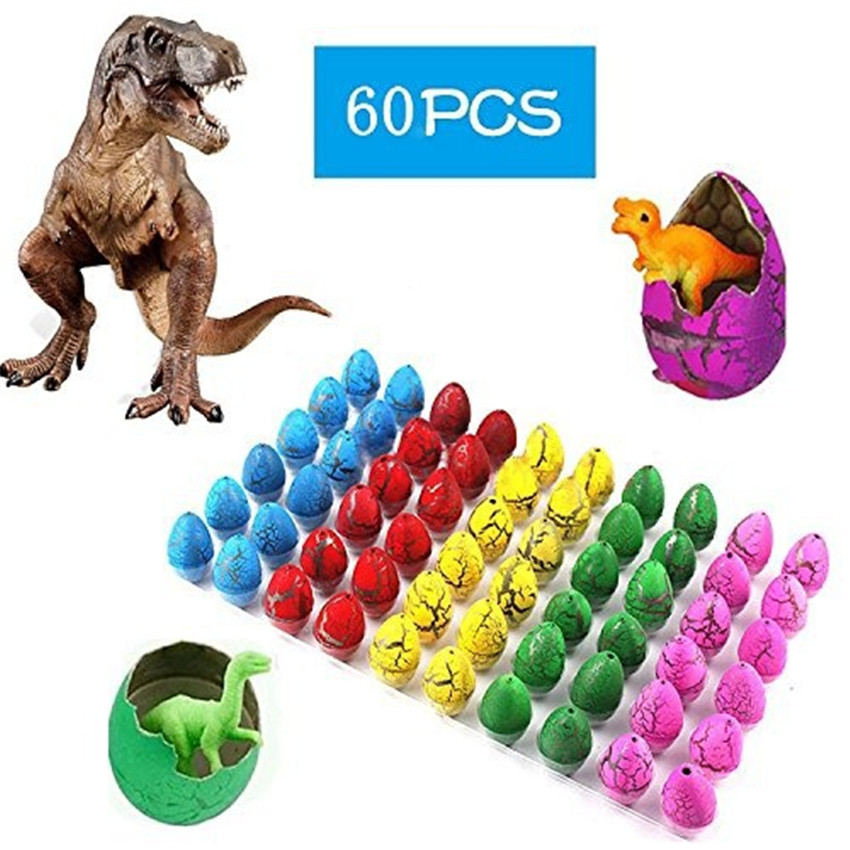 30/60Pcs Funny Inflatable Easter Child Magic Growing Dino Eggs Hatching Dinosaur Add Water Kids Toy Educational Toy for Children