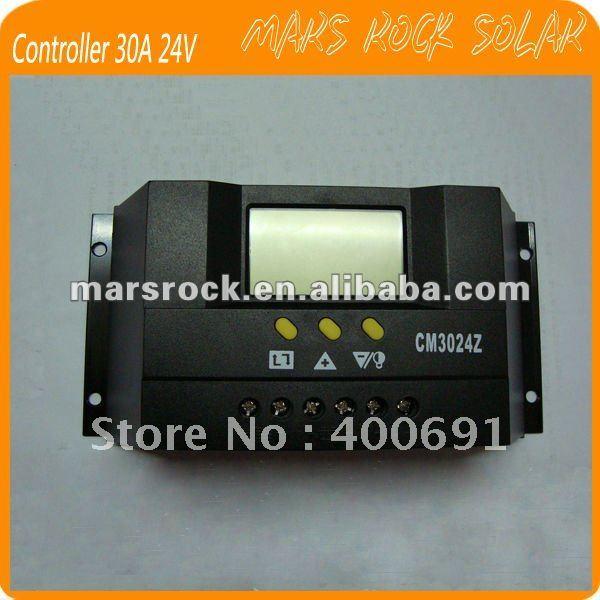 30A 12/24 V с интеллектуальной функцией ШИМ регулятором солнечного заряда и регулятор разряда с ЖК-дисплей дисплей