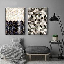 Абстрактный геометрический мраморный холст картина постер с