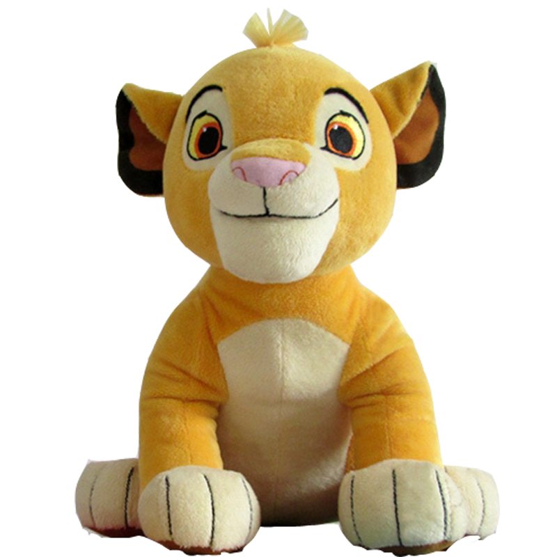 New Good Quality Cute 1pcs Sitting High 26cm Simba The Lion King Plush Toys , Simba Soft Stuffed Animals doll For Children Gifts stuffed toy