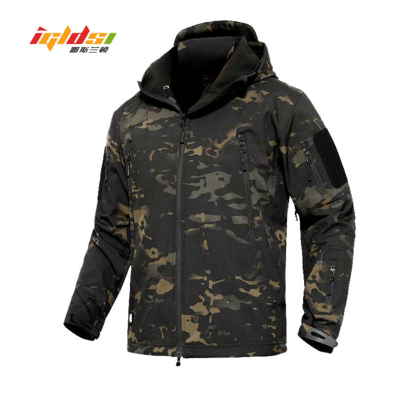 Haai Huid V4 Soft Shell Militaire Tactische Jas Mannen Waterdichte Leger Fleece Jassen Multicam Camouflage Combat Windbreakers 3XL
