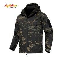 Shark Skin V4 Soft Shell Military Tactical Jacket Men Waterproof Army Fleece Coats Multicam Camouflage Combat Windbreakers 3XL