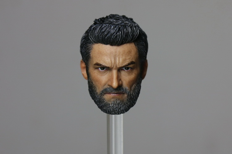 1/6 scale figure accesories Wolverine Hugh Jackman Logan head sculpt carved 12 Action figure doll.not include body;clothes 1 6 scale wolverine 3 logan hugh jackman head sculpt for 12 figure hot toys male head carving soldier head model toys
