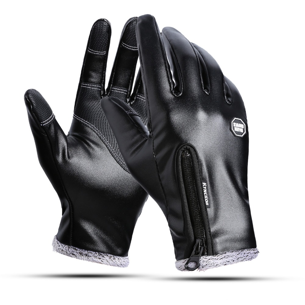 Gloves Mittens Touch-Screen-Gloves Warm Black Winter Fashion-Brand Men's For Full-Finger-Handschuhe