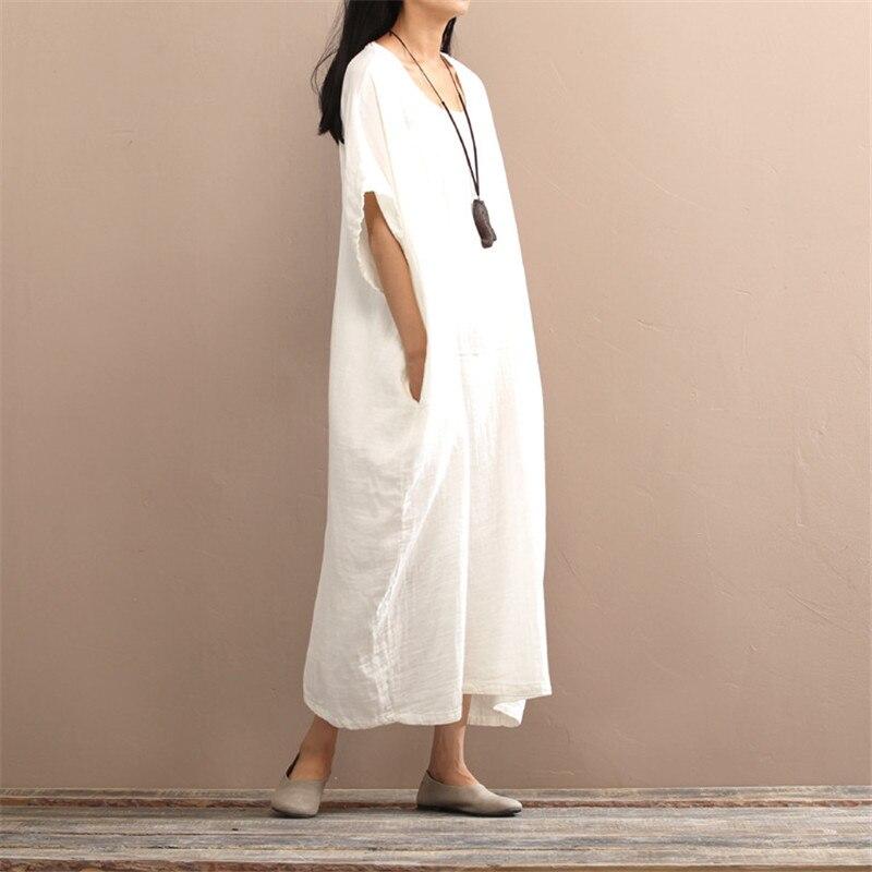 SCUWLINEN 2019 Musim Semi Musim Panas Gaun Vintage Panjang Plus - Pakaian Wanita - Foto 4