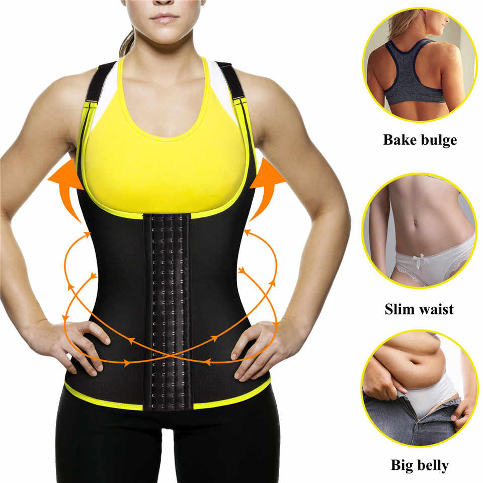 Junlan для женщин средства ухода за кожей Shaper неопрен для похудения жилет сауна Корректирующее белье животик управление талии тренер