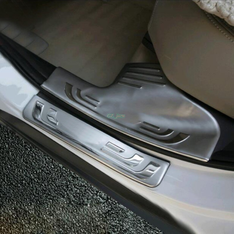 High Quality 4 Piece Built-in stainless steel door sill scuff plate for Honda CRV CR-V 2012 2013 2014 2015 car sticker With logo набор сверл по металлу irwin cobalt