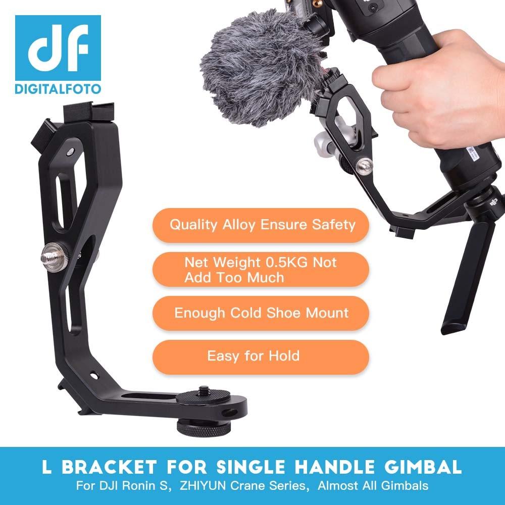 L bracket with 3 hot shoe mount Handle magic arm for gimbal attach monitor Mic zhiyun crane 2/MOZA/feiyu/Dji Ronin S accessories цена