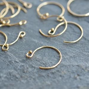 Ушные провода ручной работы PINJEAS, 14 к, золотой наполнитель, шаровой головкой, полумесячный ушной крючок для самостоятельного изготовления ю...