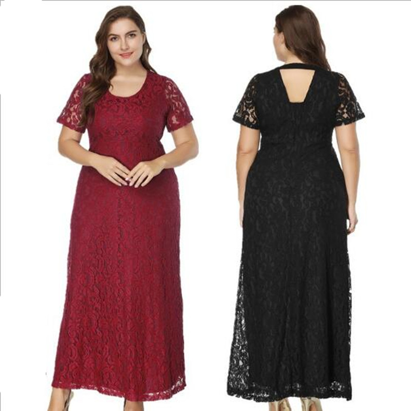 fce1b6347e5ae Detail Feedback Questions about 7XL 8XL Large Size Lace Party Long Dress  Ankle Length Fat Mm Women Elegant Evening High Waist Maxi Dresses Plus Size  Clothes ...